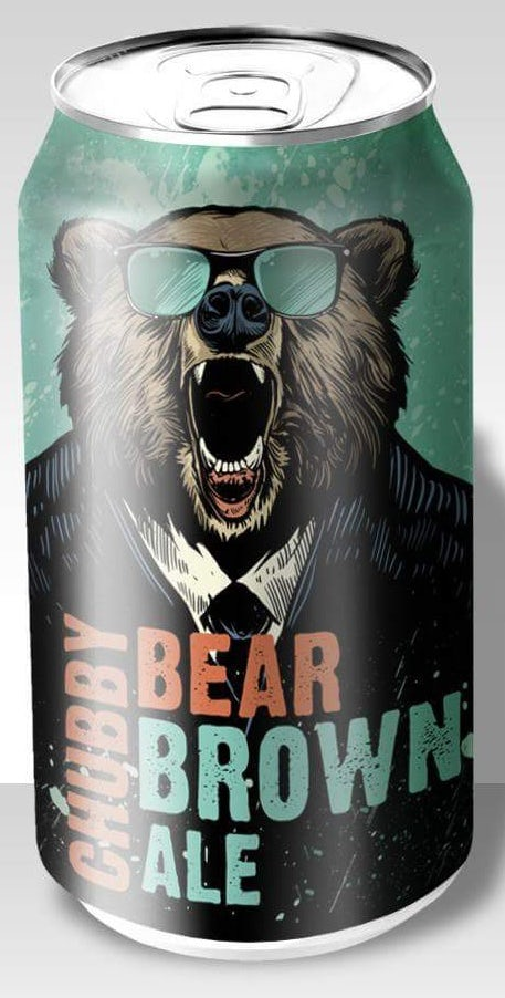 story-driven packaging design trend: beer can showing a bear with sunglasses