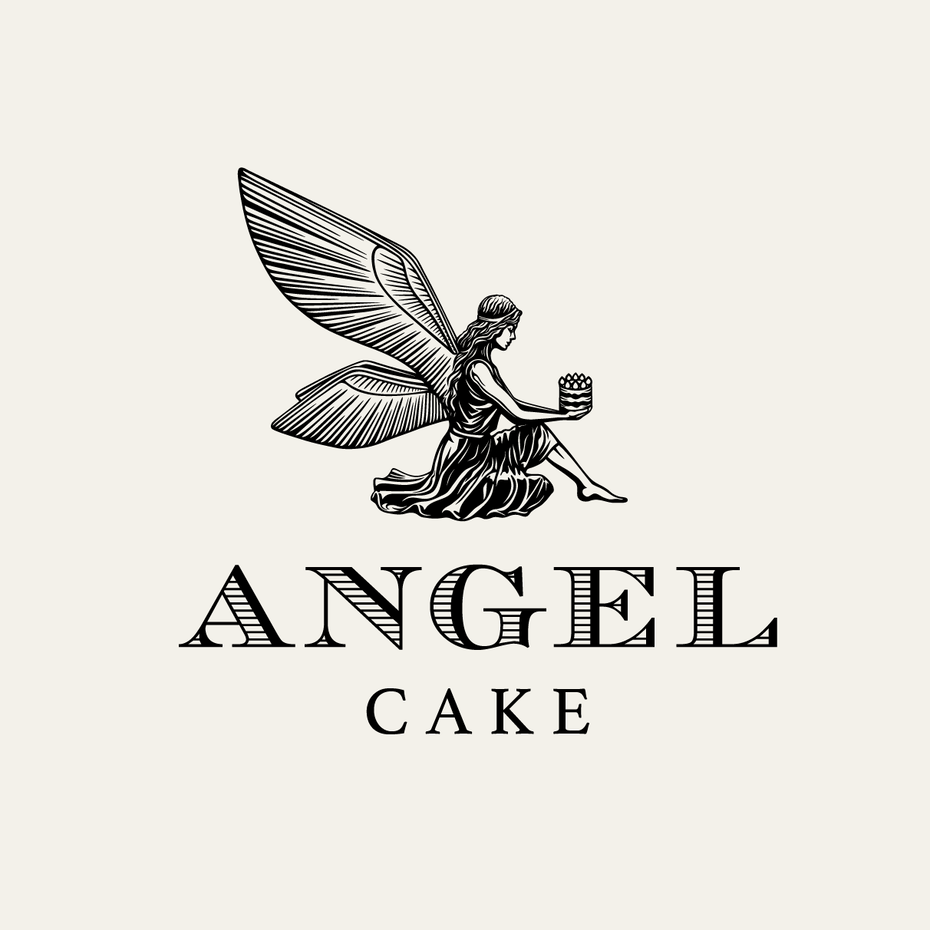 logo design trends example: angel illustration logo design