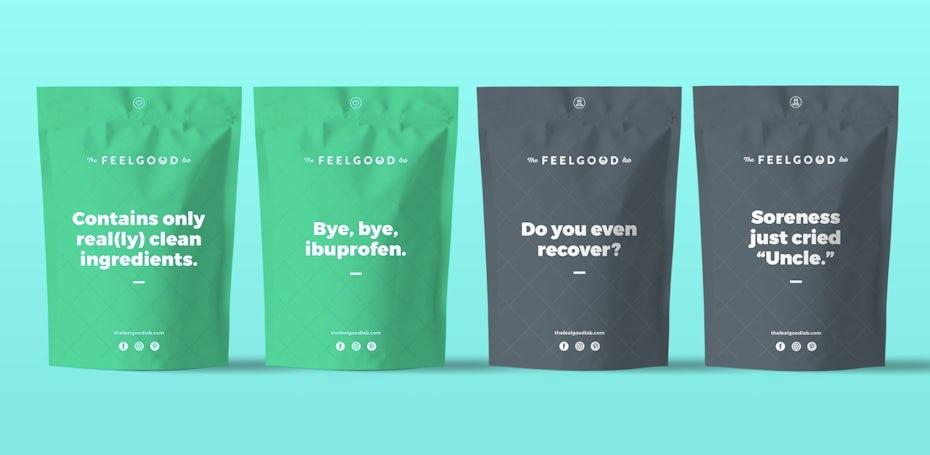 verpackungstrend einfarbigkeit: Verpackungsoptionen für grüne und graue Beutel