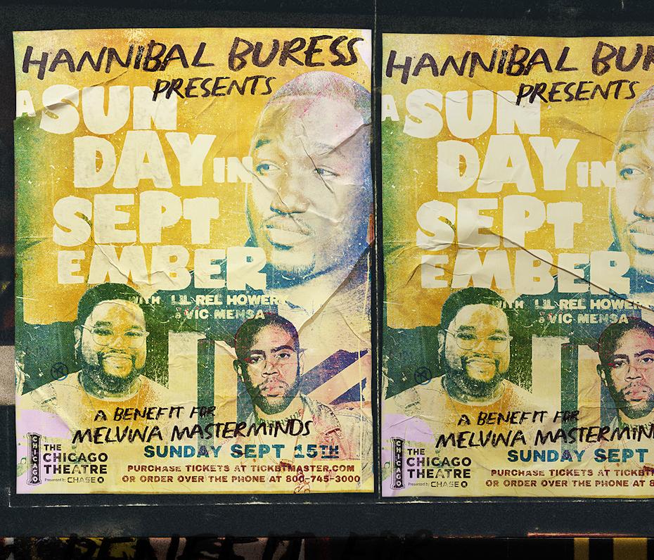 Plakat, das männliche Gesichter und Text mit einer gelben Waschung über den Bildern zeigt