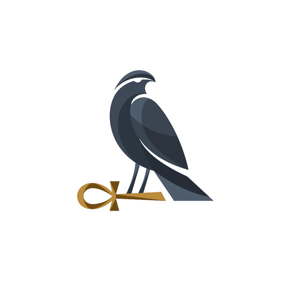 logo design trends example: Egyptian style ankh symbol logo design