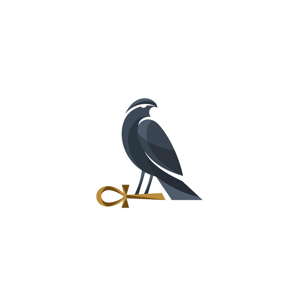 Egyptian style ankh symbol logo design