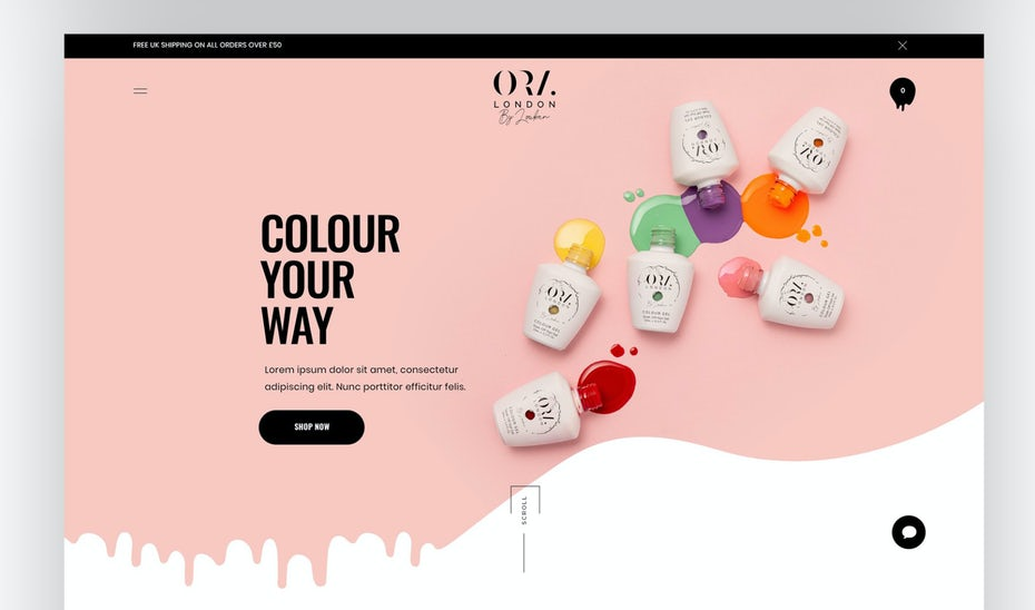 Shopify design for nail polish brand