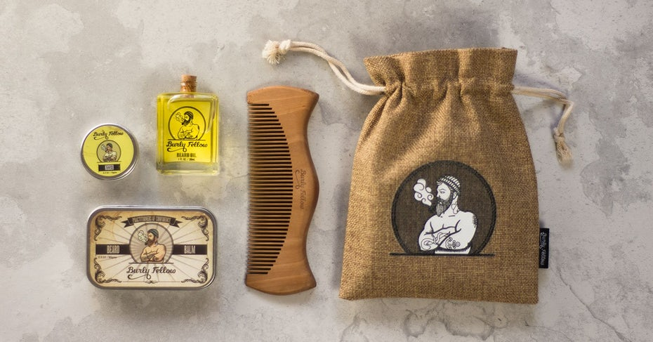 unique jute packaging for male grooming brand