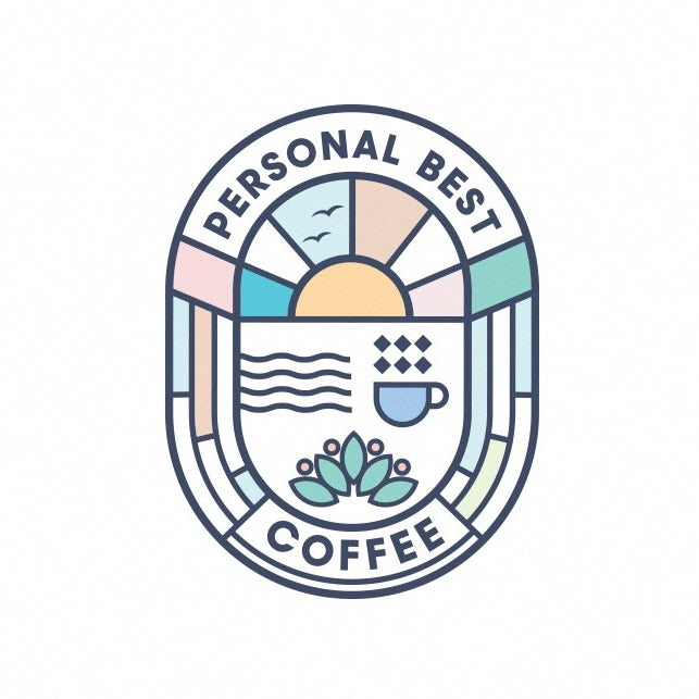 logo design trends example: Colorful stained glass style logo design