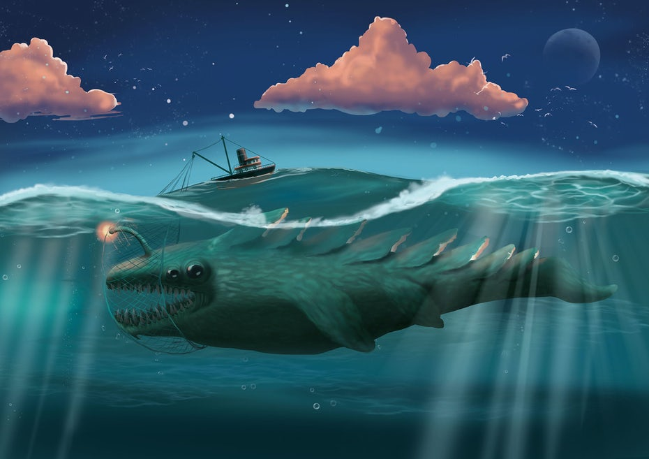 sea monster illustration