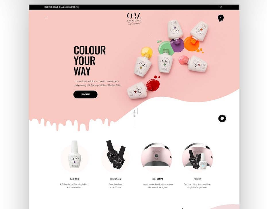 2021 ecommerce design trend example of best-sellers in visuals
