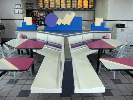 interior shot of a 90s-era Taco Bell