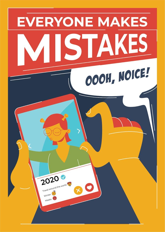 2020 Motivationsposter von Freelance-Designern