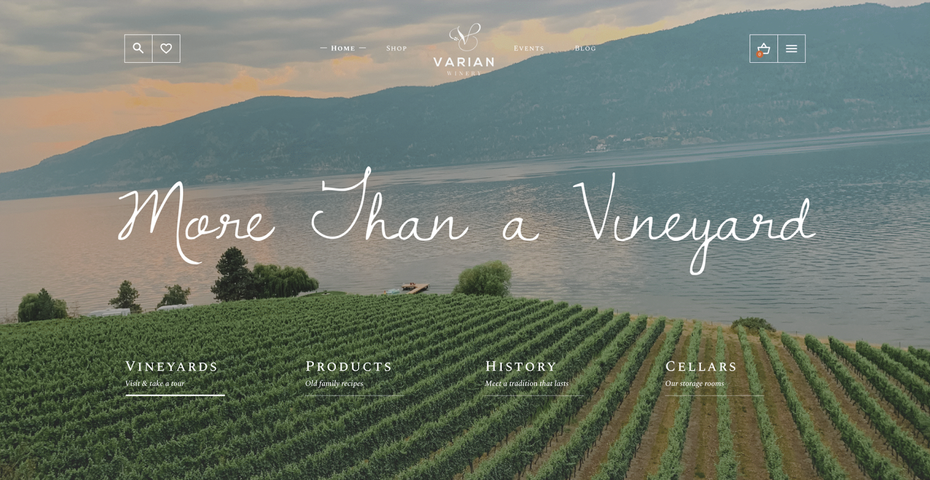 Winery company UX website design