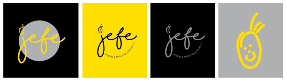 logo design in geld und grau