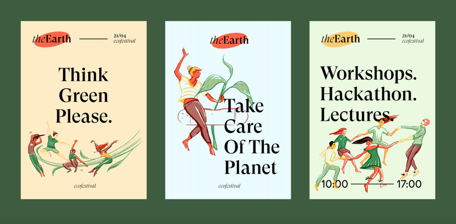 eco friendly festival's poster series
