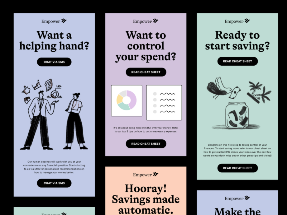 Email design trends 2021 example of centering on the reader