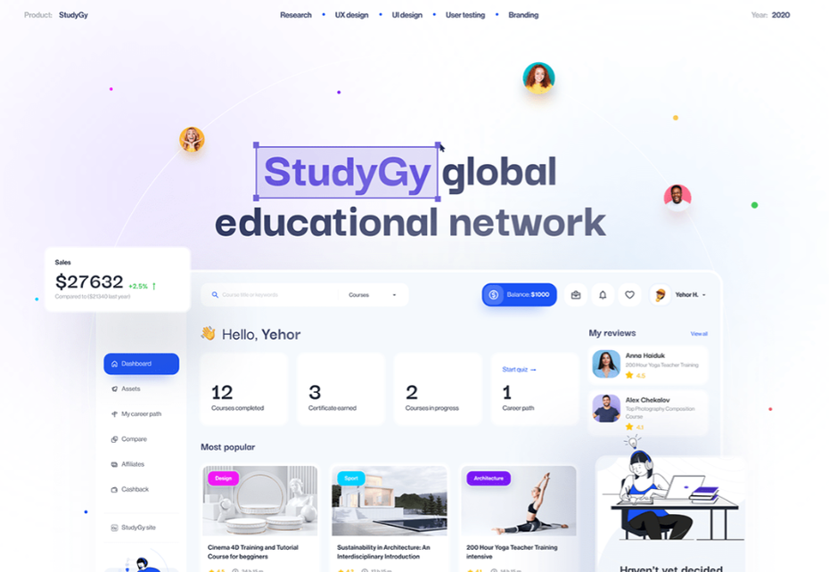 UX design for individual learning education website