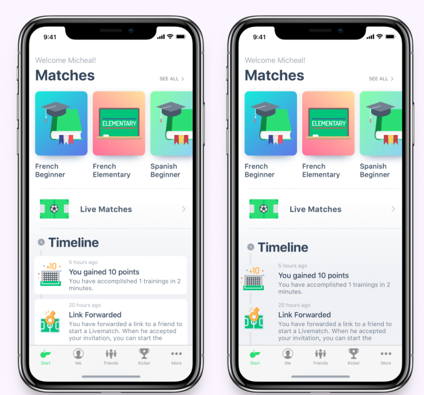 UX design for individual learning matchmaking app