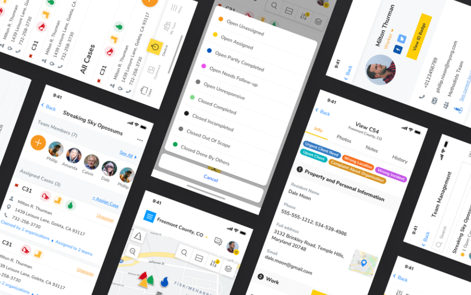 Work management collaboration UX app design
