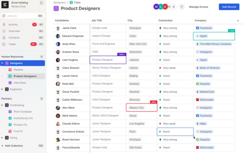 Product designer collaboration app UX design