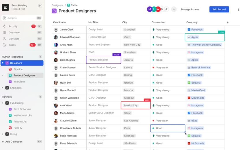 Product designer collaboration app UX design