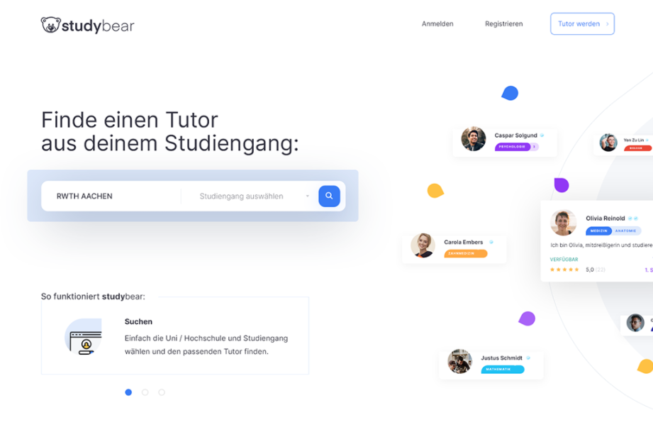 Student collaboration app UX design