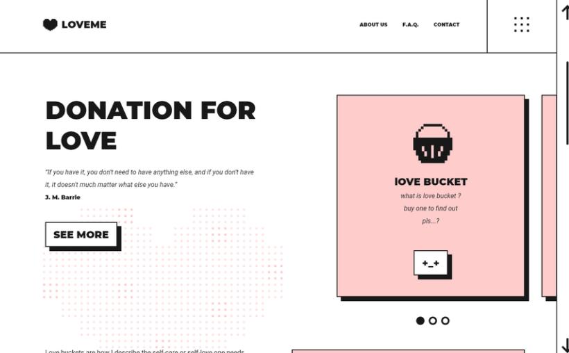 Minimalist retro 90s style web page design