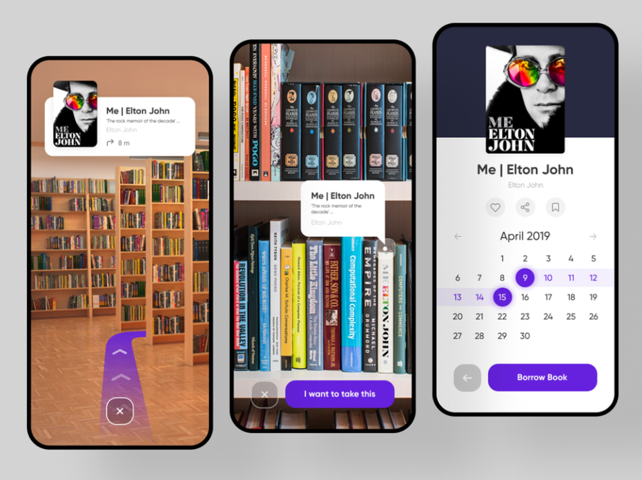 Camera AR app for book reservation