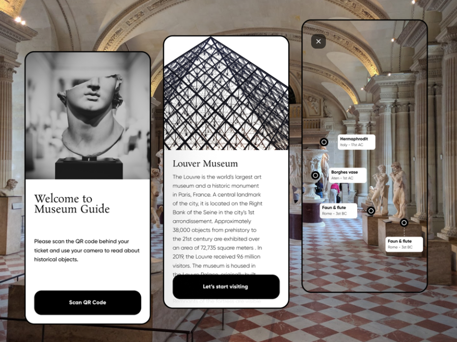 Camera AR app for museum tours