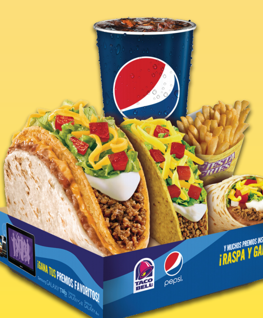 Taco Bell meal box with Pepsi