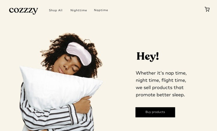 2021 ecommerce design trend example of neutral background colors
