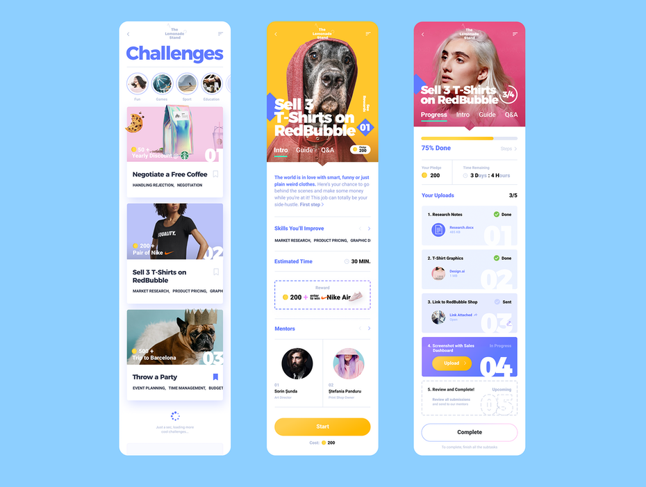 UX design for marketing individual learning app