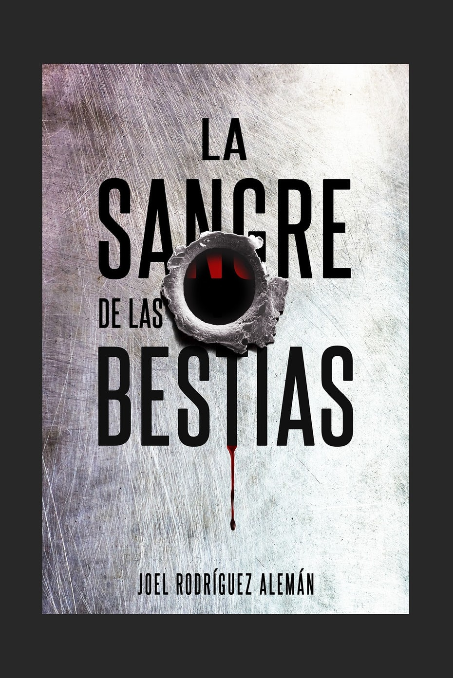 book cover with gun shot hole