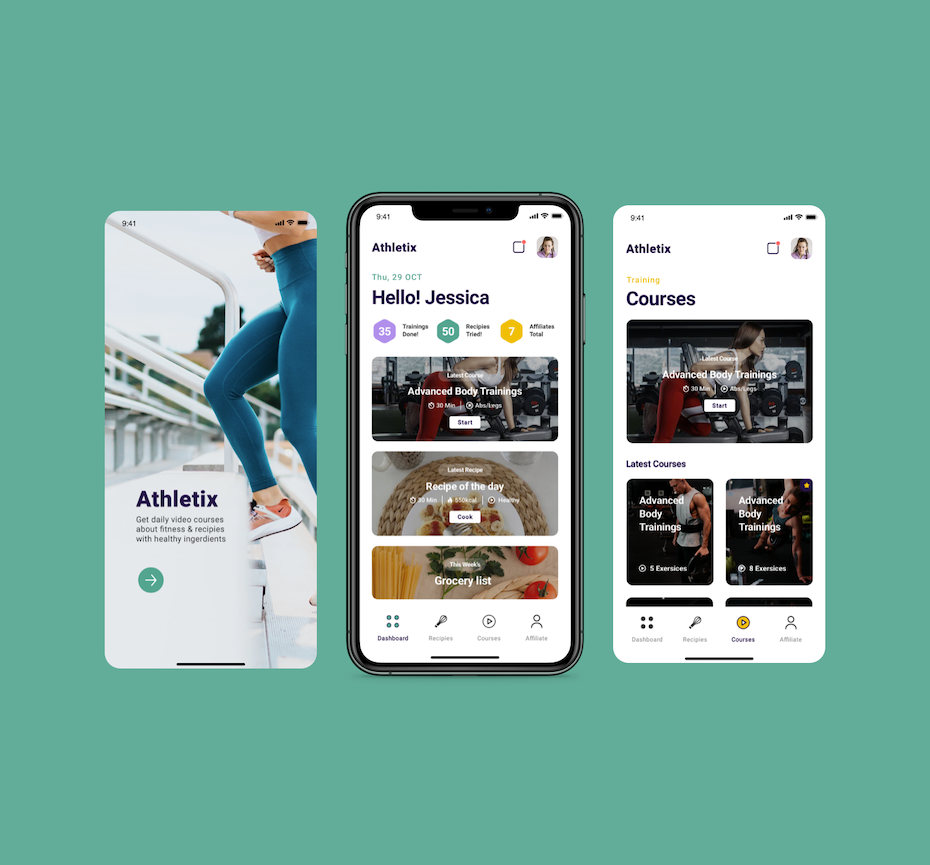 UX design for fitness individual learning app
