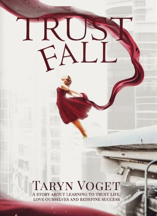 trust fall book cover design
