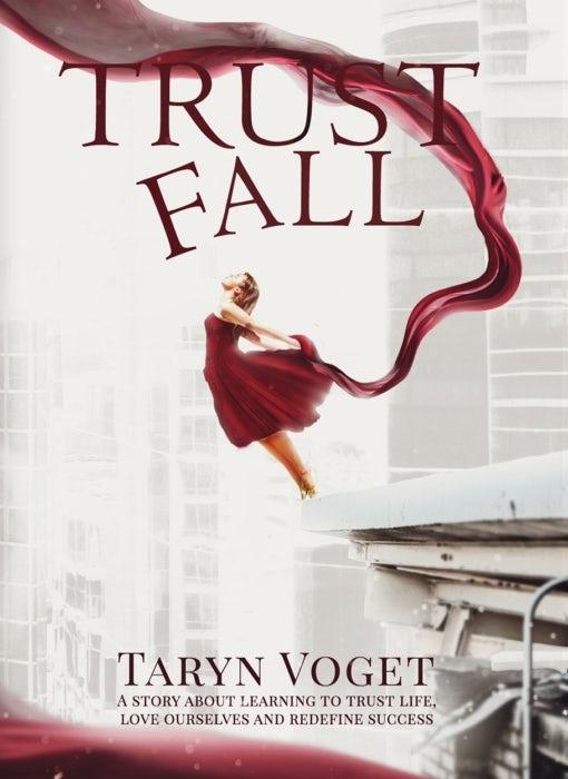 trust fall book cover design