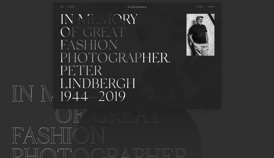 Maximal text Peter Lindbergh