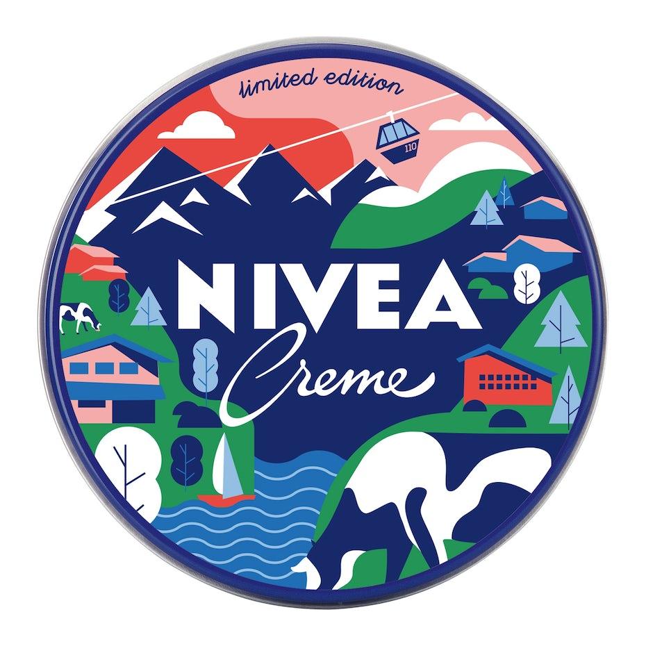 瑞士农村尼维亚徽标设计
