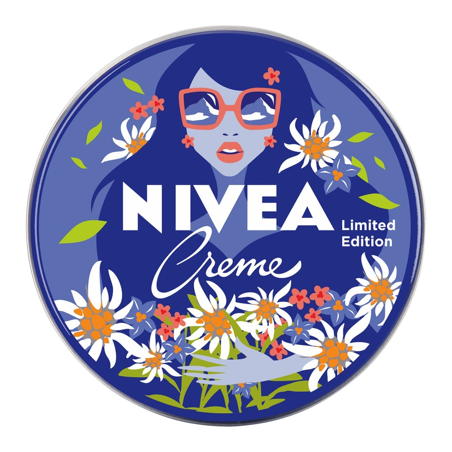 nivea logo design of flowers and a woman