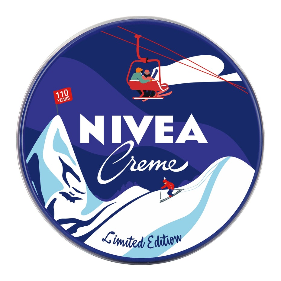 nivea logo design of ski lift illustration