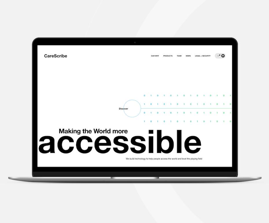 monochrome minimalist web design