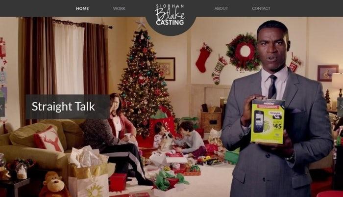 Casting director's online portfolio