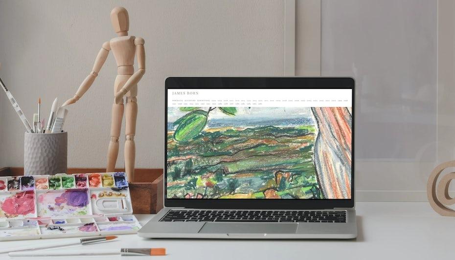 Fine artist online portfolio