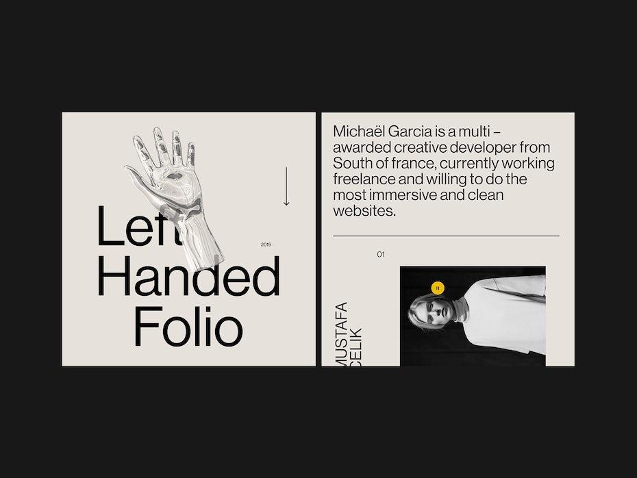 monochrome online creative portfolio