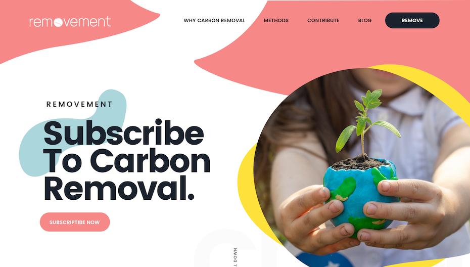 website for environmental start up