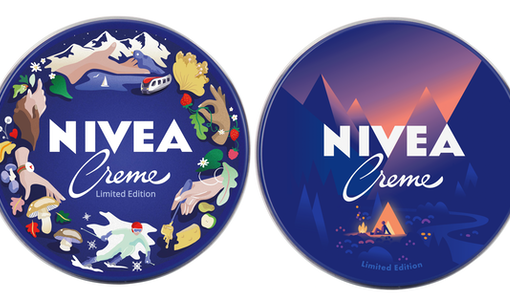 NIVEA Switzerland celebrates 110 years with a limited edition design of their iconic tins