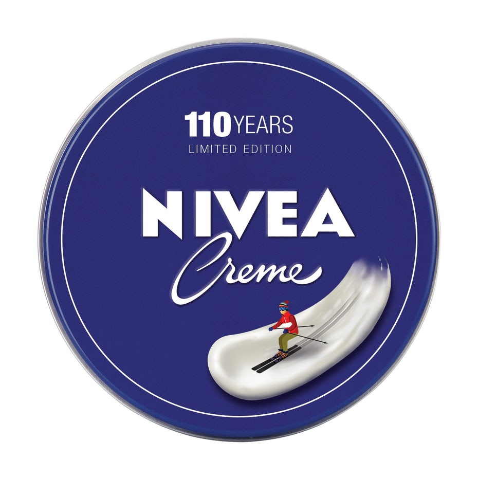 nivea logo design with someone skiing