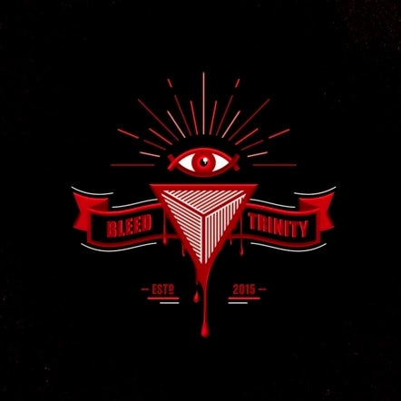 Logo design of an all-seeing-eye above an inverted triangle