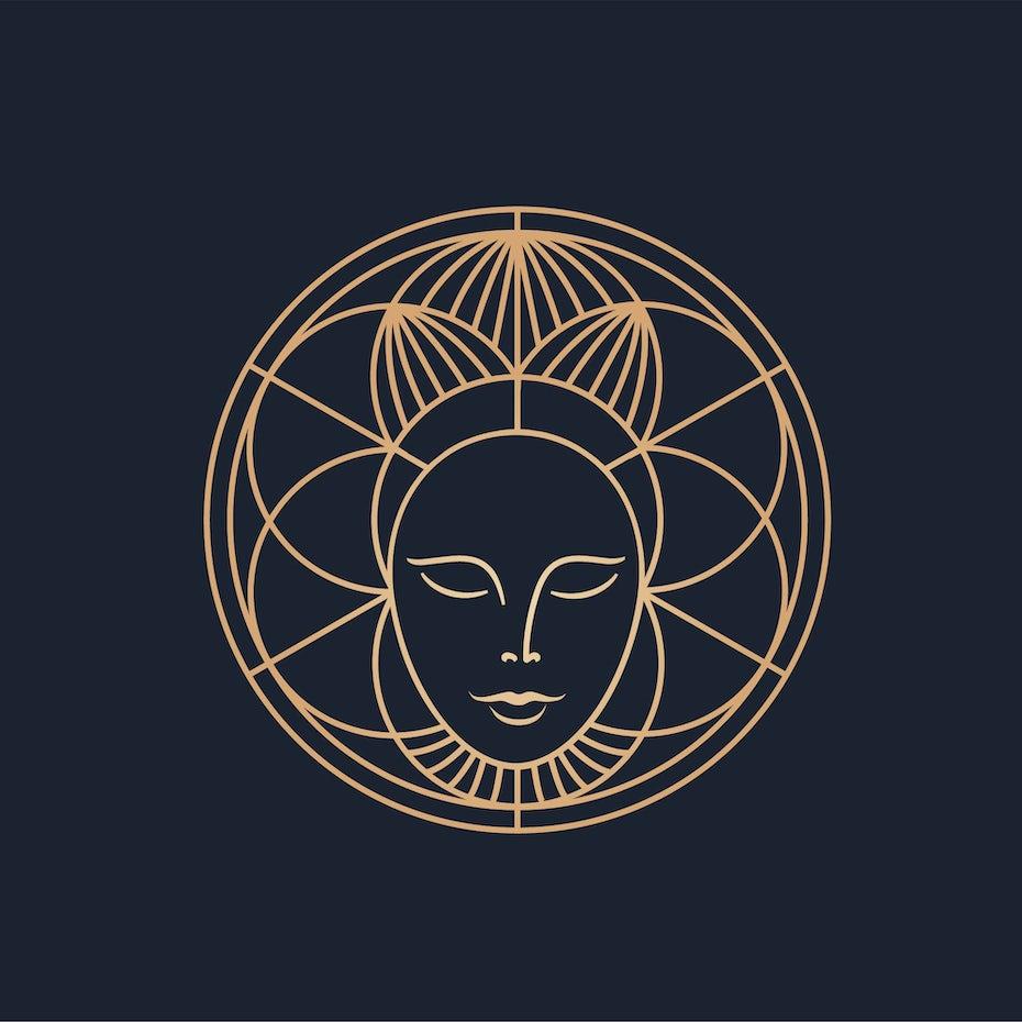 Sacred geometry logo design for coffee brand