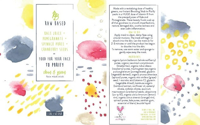 Packaging design with watercolor style memphis pattern