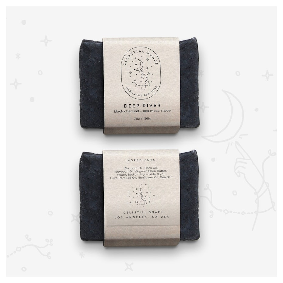 Constellation themed packaging design for soap