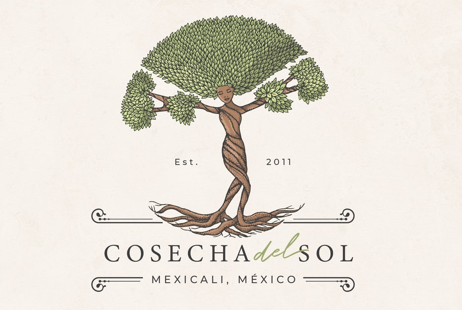 Nature goddess themed logo design