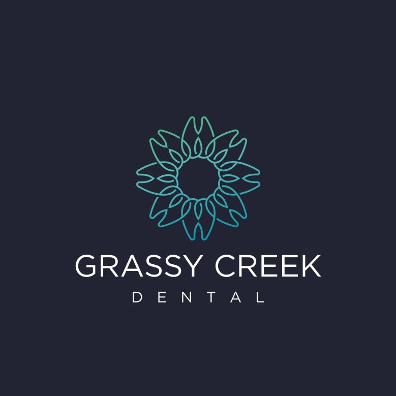 Logo design for a dentistry brand with teeth arrayed in a sun shape
